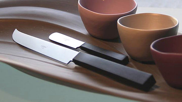 Cutipol Kube cheese knife and butter knife.