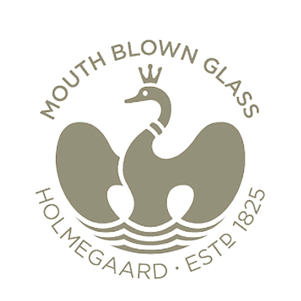 Mouth-blown glass by Holmegaard can be recognized by the Swan logo.