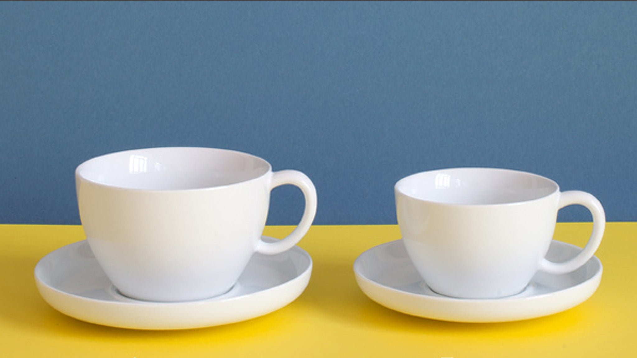 Sowden Penrose Latte Cup and Saucer Set. Art. S030. Penrose Teacup and Saucer Set. Art. S029.