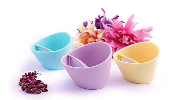 Magisso Teacup collection in pastel colors.