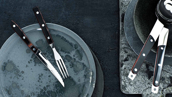 GENSE Old Farmer Classic Carving Set and Salad Set
