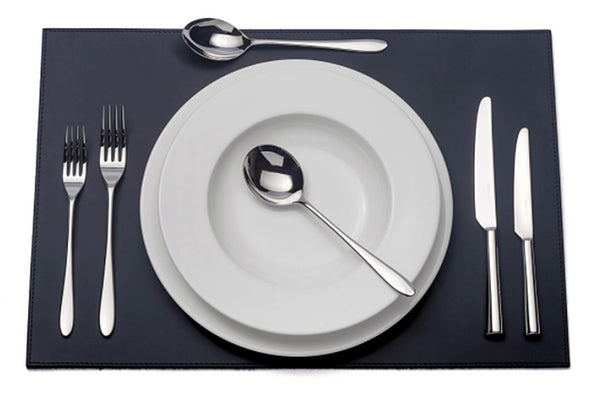 Pride six-piece cutlery place setting. PRODUCT CODE 4993717. Knife blades are made from high carbon stainless steel for a superior cutting edge. Comprising:  1 table knife 1 dessert knife 1 table fork 1 dessert fork 1 soup spoon 1 dessert spoon.