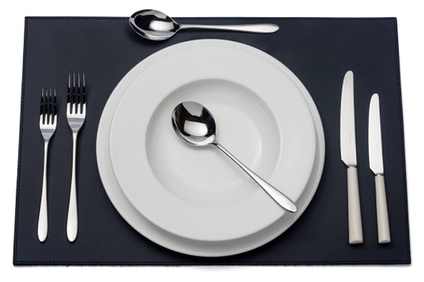 Pride ivory handled six-piece cutlery place setting. PRODUCT CODE 4993733. Ivory acetal resin knife handle. Comprising:  1 table knife 1 dessert knife 1 table fork 1 dessert fork 1 soup spoon 1 dessert spoon.