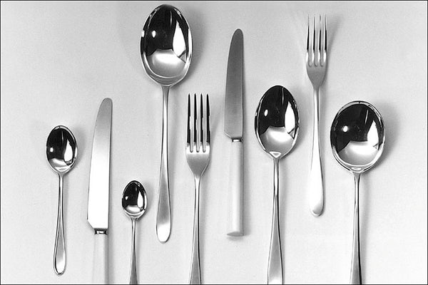 Pride stainless steel. David Mellor's iconic 'Pride' cutlery was designed in 1953 while Mellor was still a student at the Royal College of Art and has been in continuous production ever since.