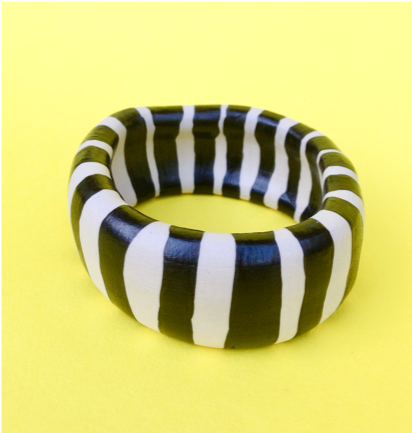 Striped Porcelain Bangle
