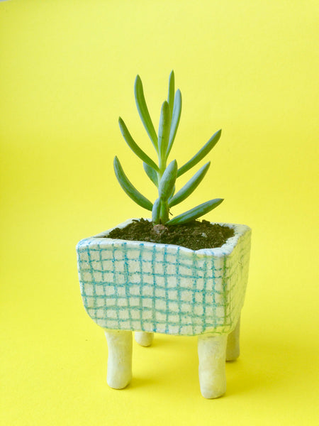 Mini Plant Pot – Pale Blue