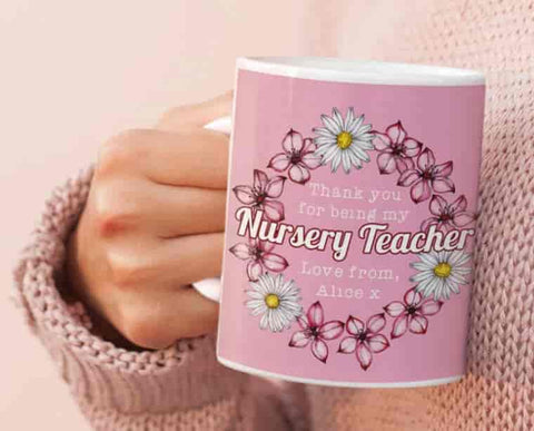 Nursery teacher mug gift
