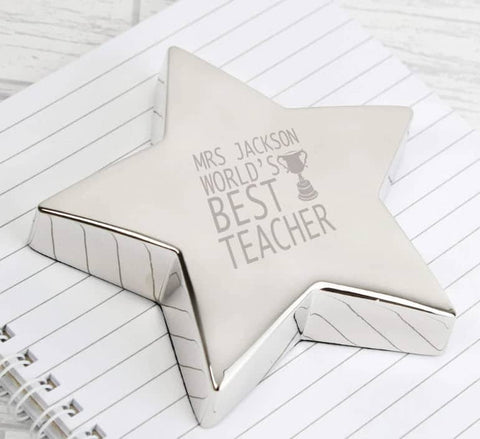 Paperweight for teachers desk