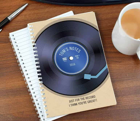 Retro vinyl notebook for dance teacher