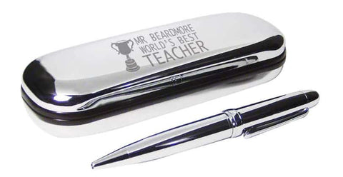 Teacher pen and trophy case