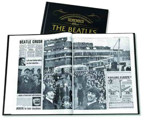 Beatles photo book can be personalised with custom message