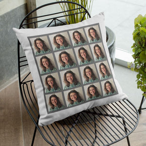 Personalised Photo Cushion 16 Photo Collage