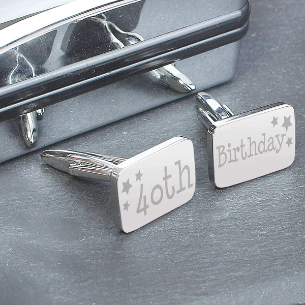 40th Birthday Cufflinks