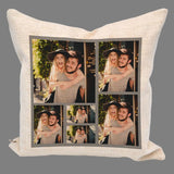 Personalised Photo Cushion Grey 6 Photos Collage