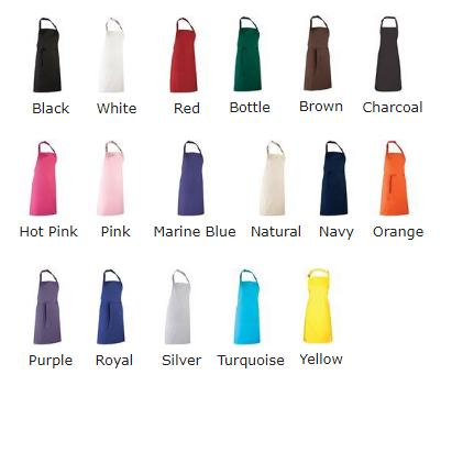 Personalised apron colours