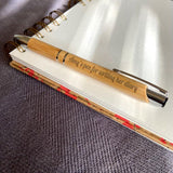 Personalised Bamboo Pen Engraved Message