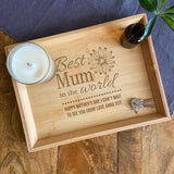 Personalised Bamboo Bits and Bobs Tray Mother's Day Design