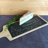 Personalised Bamboo and Slate Cheese Board Cheese Icons