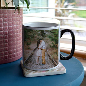 Personalised Black Handle Photo Mug