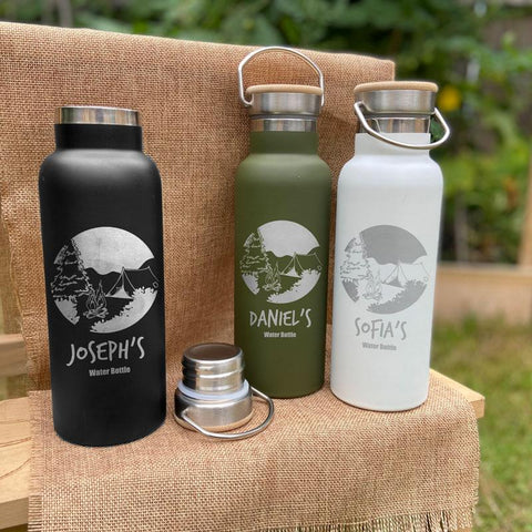 Personalised camping water bottle