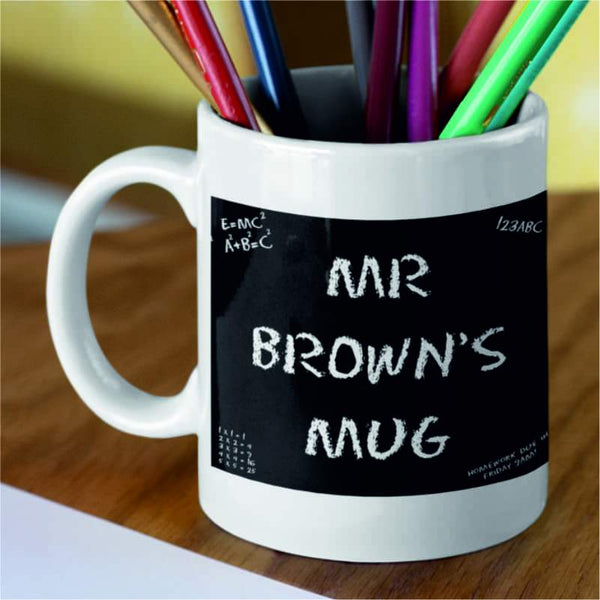 Personalised Chalkboard Name Mug
