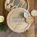 Personalised Keep Off My Cheese Board with Cheese Knife Set Chopping Board Always Personal