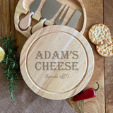 Personalised Keep Off My Cheese Board with Cheese Knife Set