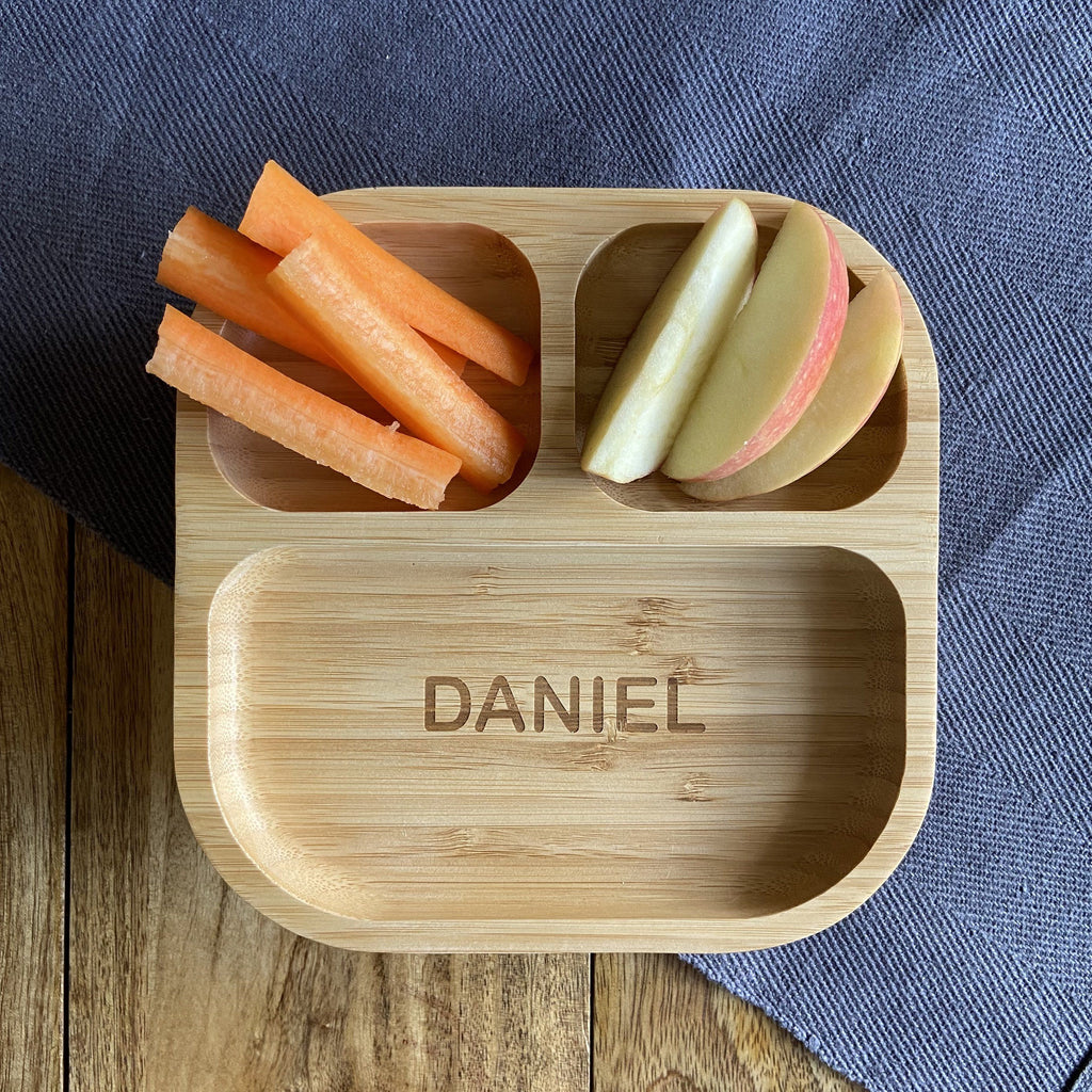 Personalised Children's Bamboo Plate with Suction Cup Plate Always Personal