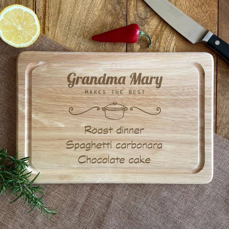 Personalised Wooden Chopping Board Makes the Best Food