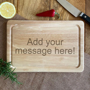 Personalised Wooden Chopping Board Any Message