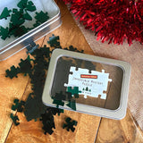 Impossible Jigsaw Puzzle Christmas Edition - Transparent Green Acrylic Jigsaw Always Personal