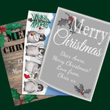 Personalised Christmas Gift notes in Multiple Colours