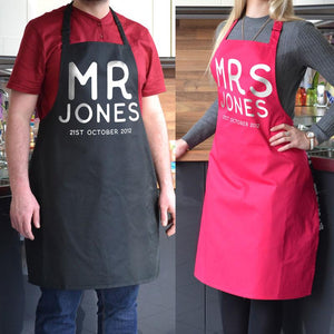 Personalised Couple's Apron Set