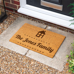 Personalised Door Mat Family Name