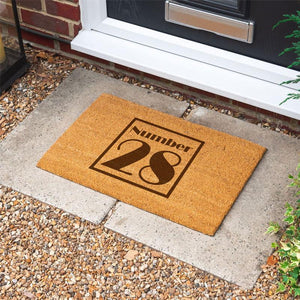 Personalised Door Mat House Number