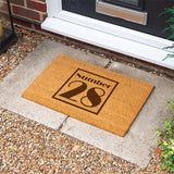 Personalised Door Mat House Number Door Mat Always Personal