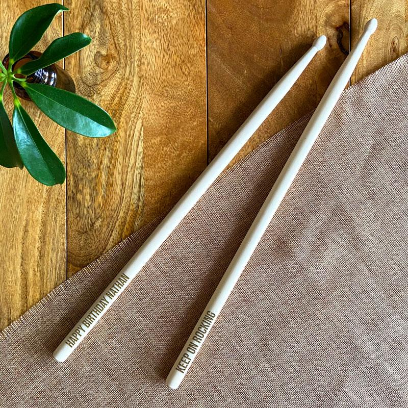 Personalised Drumsticks 5A Wooden