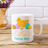 Personalised Easter Mug Easter Egg and Chick Design Mug Always Personal