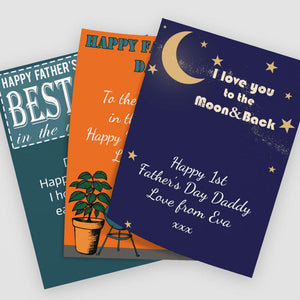 Personalised Father's Day Gift Note Multiple Styles and Colours