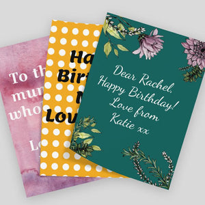 Personalised Gift Note Multiple Styles and Colours