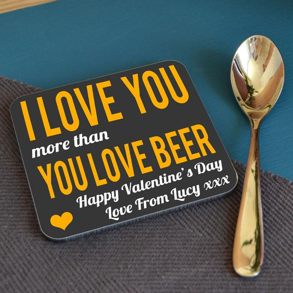 Personalised Valentine's Day Coaster Gift