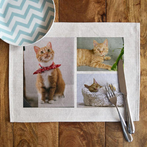 Personalised Photo Collage Linen Placemat