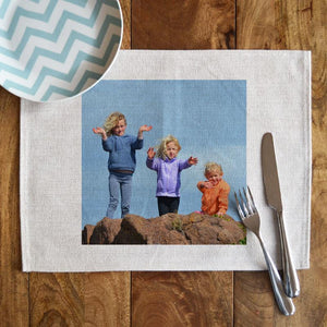 Personalised Linen Photo Placemat