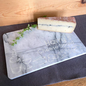 Personalised Marble Cheese Board White