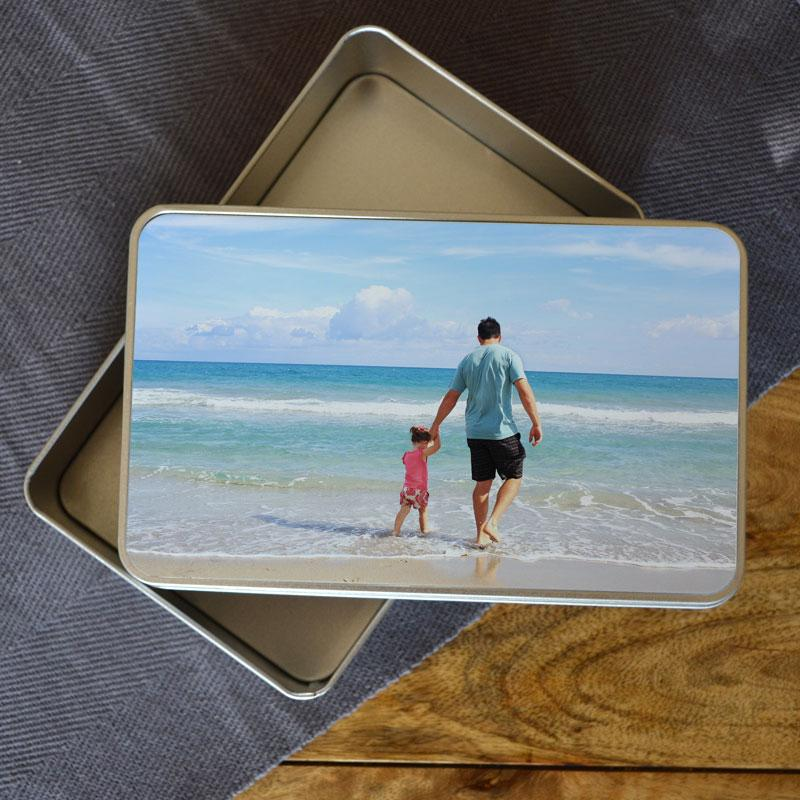 Personalised Photo Tin Box Tin Always Personal