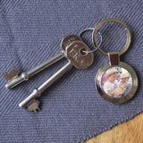 Personalised Photo Circle Metal Keyring