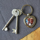 Personalised Photo Heart Metal Keyring