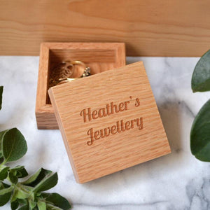 Personalised Jewellery Box Oak Mini