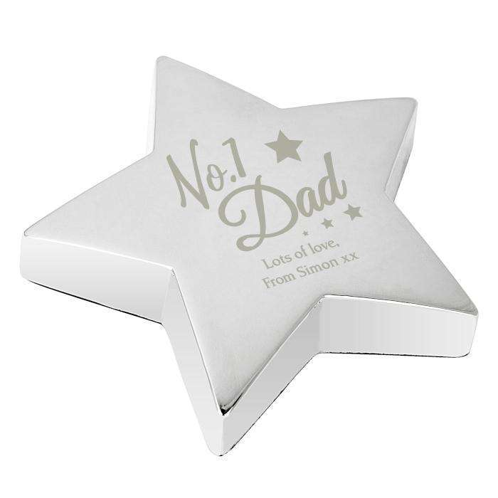 Personalised No.1 Dad Star Paperweight