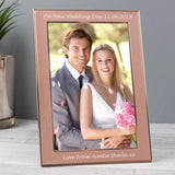 Personalised Classic Rose Gold 4x6 Frame